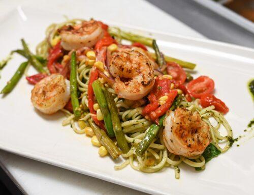 Pesto Linguine with Shrimp