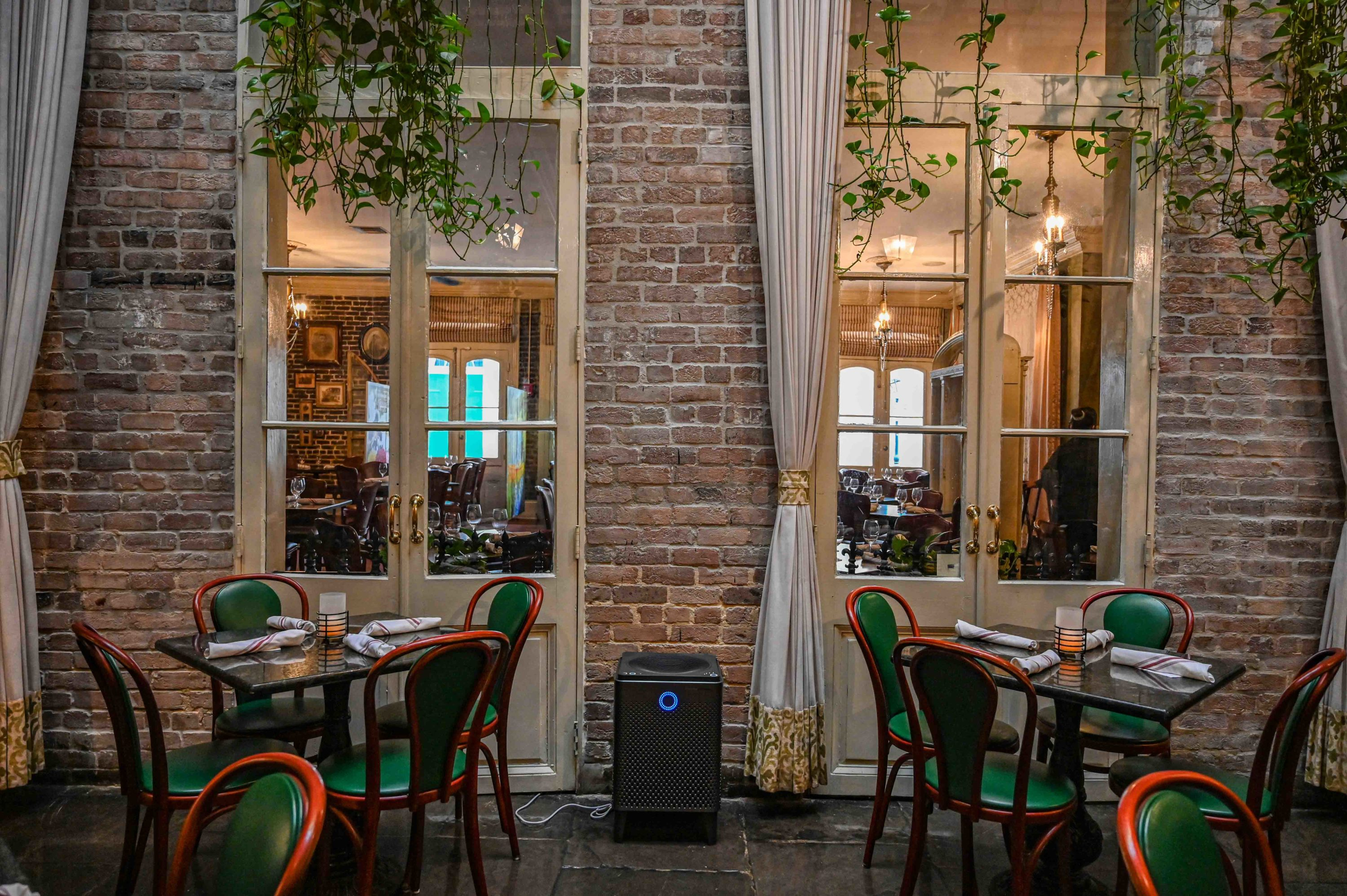 Air Purifier Located in our Courtyard